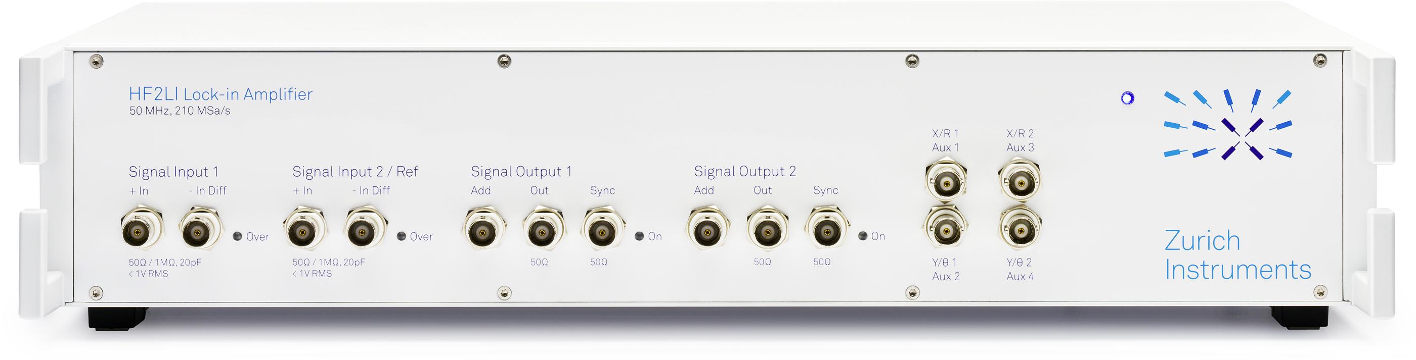Hf2li Lock In Amplifier Zurich Instruments Wide Band Rf For 10mhz 500mhz Input