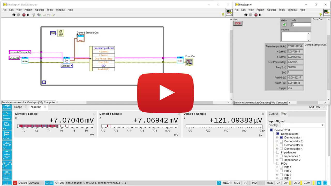 LabVIEW API video