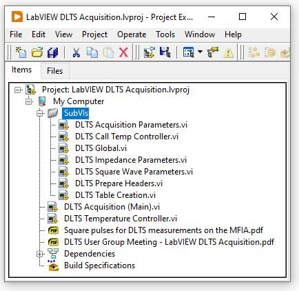 LabVIEW Project