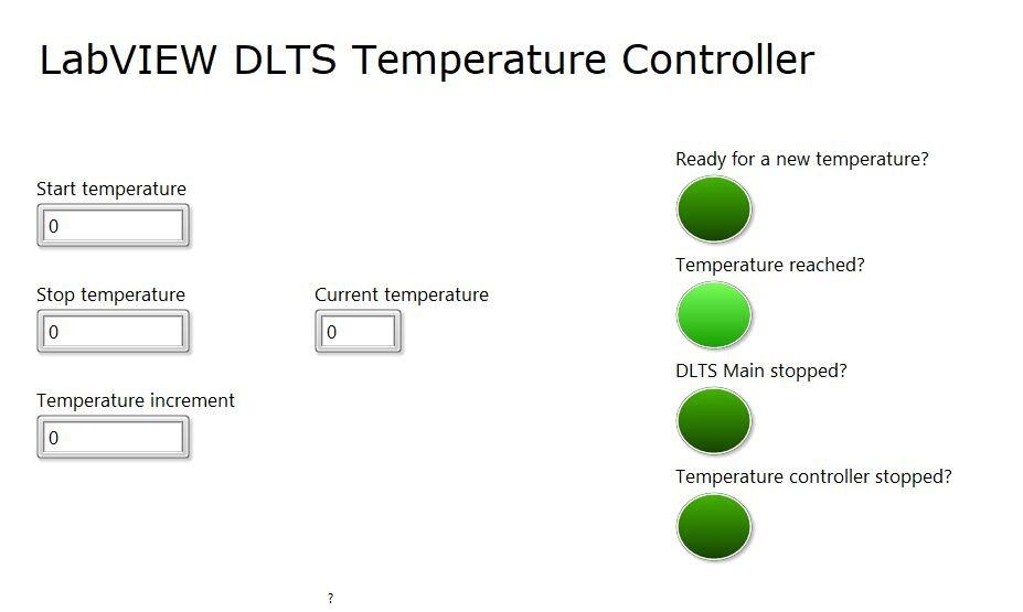 DLTS Temperature Controller