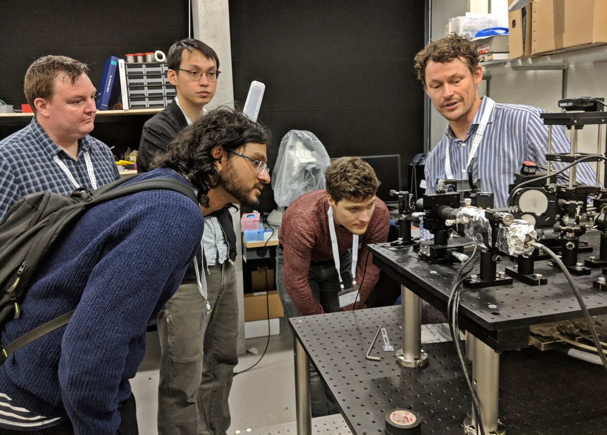 Lab tour at ETH with a Qzabre founder Gabriel Puebla-Hellmann