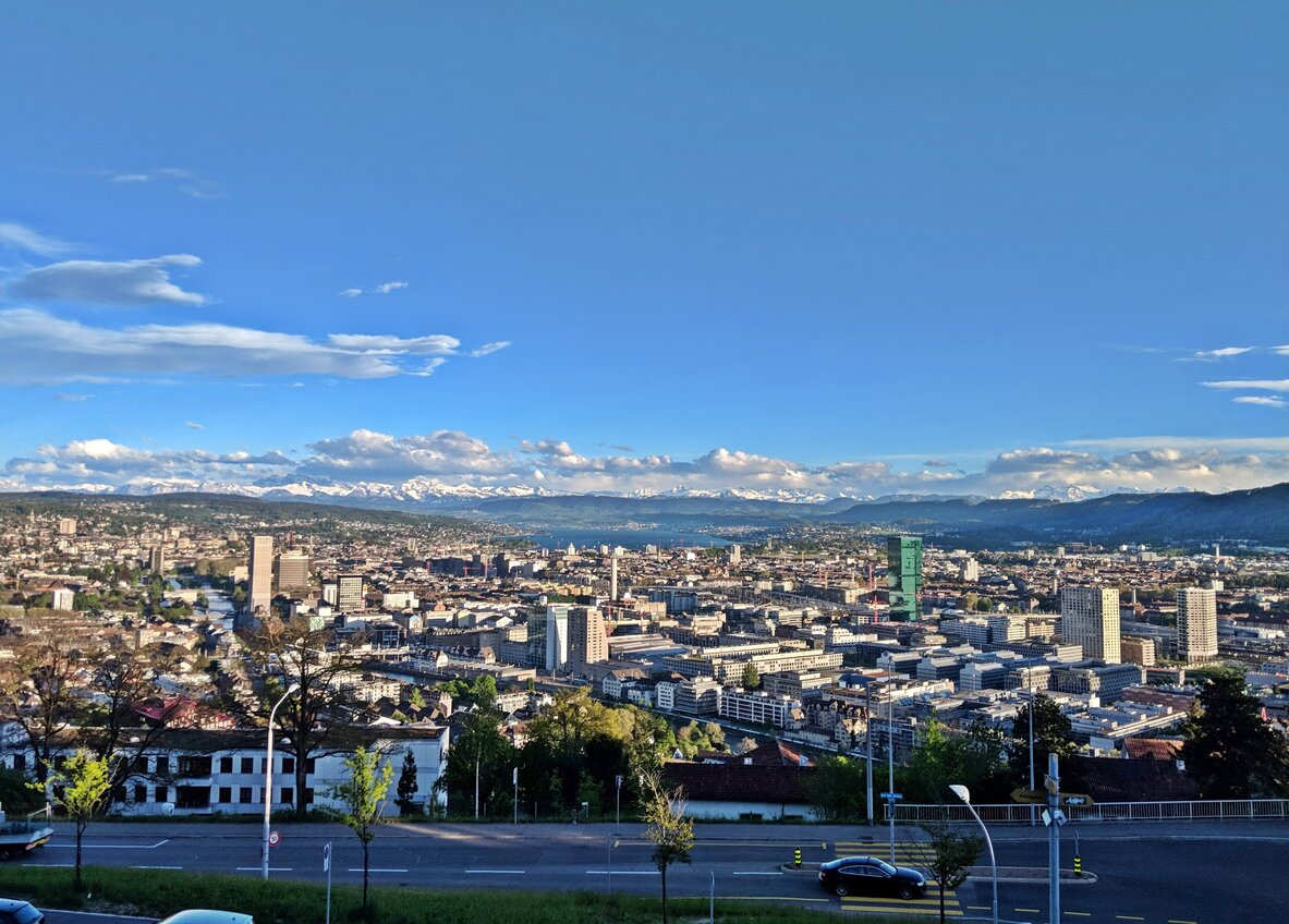 Scenic walk from the ETH Zurich to the restaurant on the top of Zurich