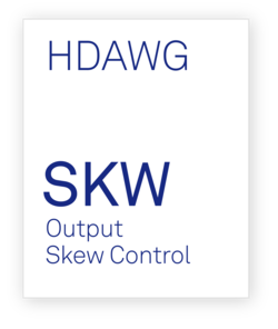 Option Box for HDAWG-SKW Output Skew Control