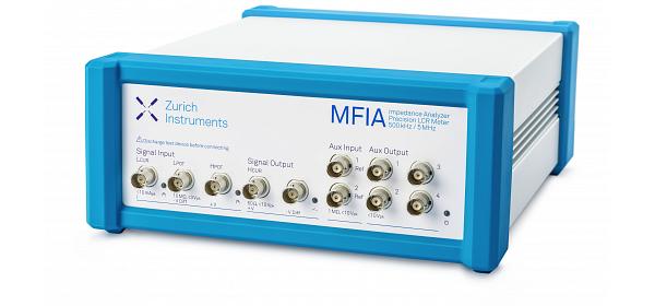 Zurich Instruments MFIA, impedance analyzer, precision lcr meter, 5 MHz