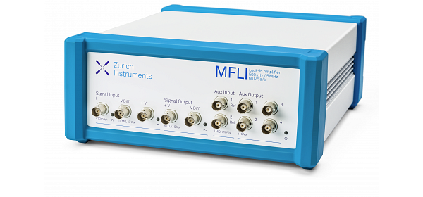 Zurich Instruments MFLI, lock-in amplifier, medium and low frequency lock-in amplifier, lock-in, digital lock-in amplifier, 5 MHz, 500 kHz