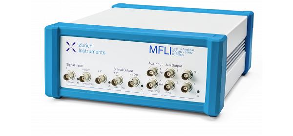 Zurich Instruments MFLI, lock-in amplifier, medium and low frequency lock-in amplifier, lock-in, digital lock-in amplifier, 5 MHz, 500 kHz